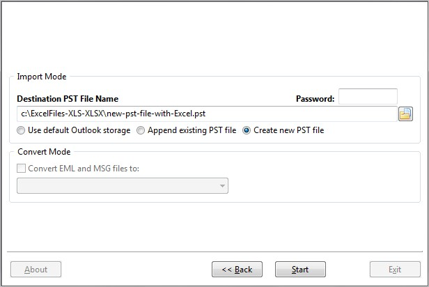 Outlook import Excel files of XLS and XLSX formats