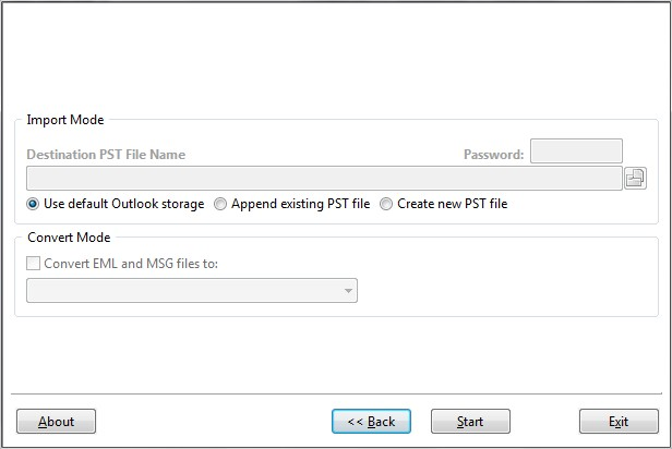 Choose the destination to convert or import PDF files