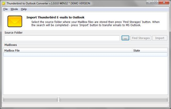 Thunderbird to Outlook conversion software